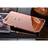 Nosson Metal Bumper Acrylic Mirror Back Cover Case For Le Eco Le Tv Le 1s - Rose Gold