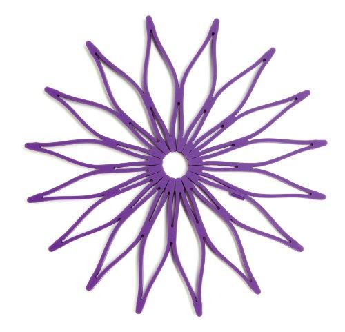 Spice Ratchet Blossom Multi-Use Purple Flower Trivet