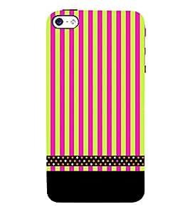 Lines Pattern Black 3D Hard Polycarbonate Designer Back Case Cover for Apple iPhone 5