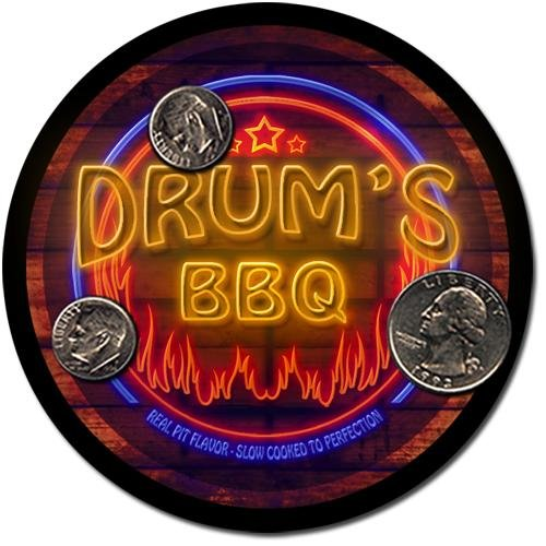 Drum'S Barbeque Drink Coasters - 4 Pack