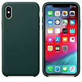 Iusun Multicolor Luxury Ultra Slim Silicorn Case Cover For iPhone XS MAX (2018) (Army Green)