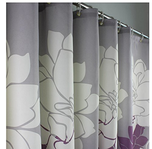 eforgift 72 inch by 78 inch floral printed shower curtain