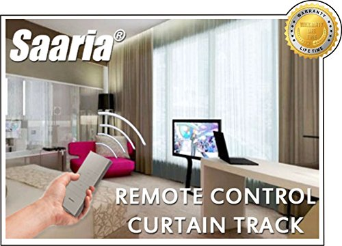 Saaria 15ft Electric Remote Automatic Motorized Curtain Track Custom Size (Motorized Drapery Track compare prices)