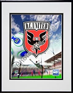 D.C. United 2007 Team Logo Double Matted 8 x 10 Photograph in Black Anodized Aluminum... by Photo File