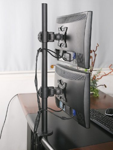 Vivo Dual Lcd Monitor Desk Mount Stand Heavy Duty Stacked