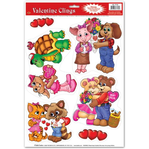 Cuddly Critter Valentine Clings