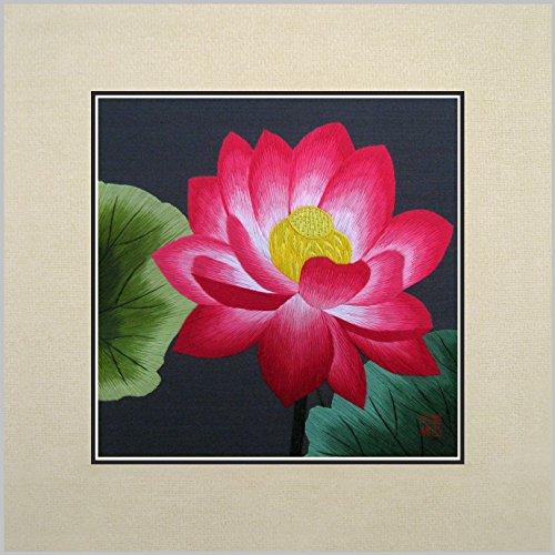 king-silk-art-100-handgefertigt-stickerei-mehrere-ungerahmt-30-x-30-cm-japanische-pink-lotus-wasser-