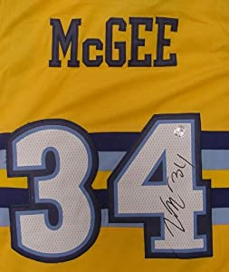 Javale McGee Denver Nuggets Autographed Yellow #34 Jersey by Sports-Autographs