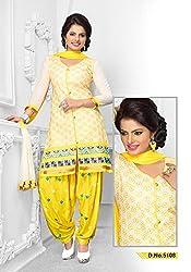 Venisa Cambric Cotton Yellow Color Salwar Suit Dress Material