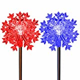 Snowflakes Solar Powered Garden Stake Lights Color Changing Outdoor Decoration Lawn Patio Deck Yard Decor by SolarDuke