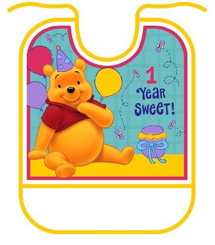 Pooh'S First Birthday Bib