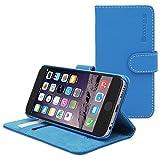 英国Snugg製 iPhone 6s用 PUレザー手帳型ケース 生涯補償付き(エレクトリックブルー)
