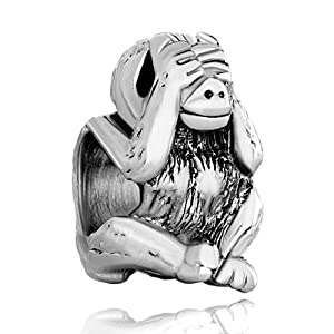 Pugster Muttertag Original Massive See No Evil Monkey Beads Fits Pandora Charms Bracelet