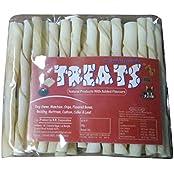 TREATS Dog Rawhide Twisted Chew Sticks- 200 Grams