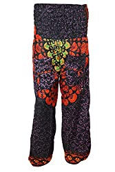Indiatrendzs Women's Harem Pants Orange BROWN Hip Hop Trouser