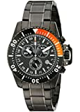 Invicta Men's 11290 Pro Diver Chronograph Black Carbon Fiber Dial Black Stainless Steel Watch