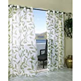 Leaf Sheer with Grommets - Green - 54x84