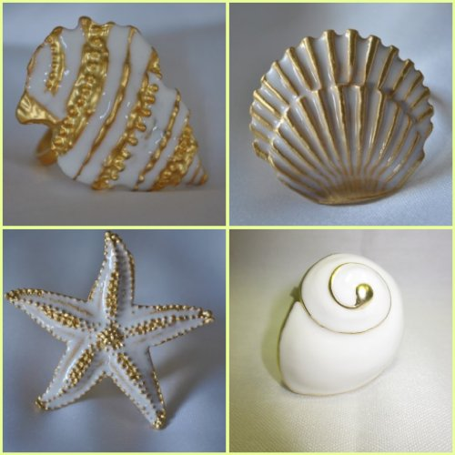 Shell Napkin Ring Assortment (set of 4)