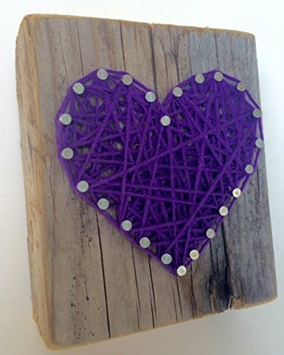Rustic-purple-string-art-wooden-heart-block-A-unique-gift-for-Weddings-Anniversaries-Valentines-Day-Christmas-Birthdays-New-baby-girls-and-just-because-gift