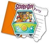 Unique Party Invitación para fiesta, diseño de Scooby Doo, con sobre, 6 unidades