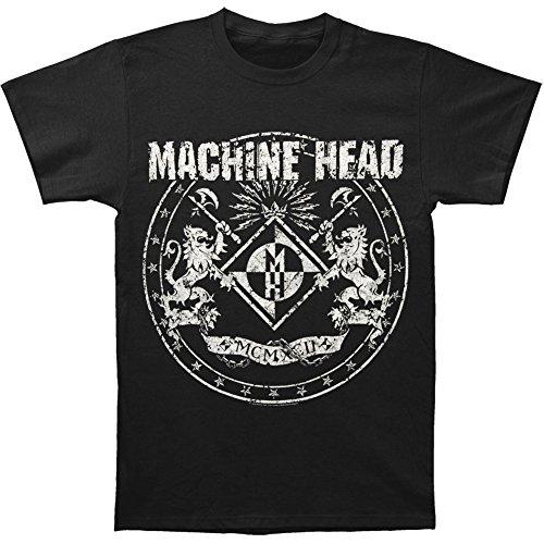 Machine Head Men's Classic Crest T-shirt Large Black (Machine Head Clothing compare prices)