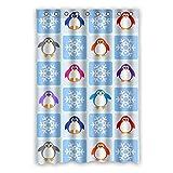"""Obtenez La Meilleure Offre Coloré adorable dessin animé manchot Polyester imperméable rideau de douche 48""""x72"""" (120cm x 183cm)"""