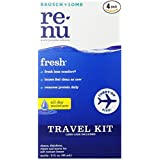Bausch + Lomb ReNu Fresh All Day Moisture Multi-Purpose Eye Contact Lens Solution Travel Kit and Lens Case 2 Fluid Ounces (Pack of 4) (Tamaño: 2 Ounce (Pack of 4))