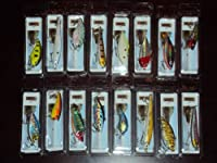 Lot of 16 In The Box Bass Trout Walleye Crankbait Fishing Lures from Nuthin Fancy Outdoors