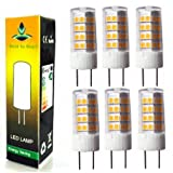 Best to Buy (6-PACK) Warm white Tower T4 GY6.35 51SMD2835 Base Bi Pin LED Halogen Replacement Bulb, 110-130V, Desk Lamps, Pendant Lights, Puck Lights, Under-counter Ligt (Color: Warm White)
