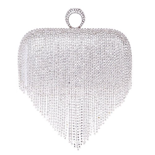silver prom clutches