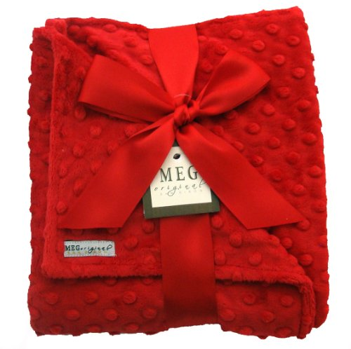 MEG Original Minky Dot Baby Blanket Red/Red