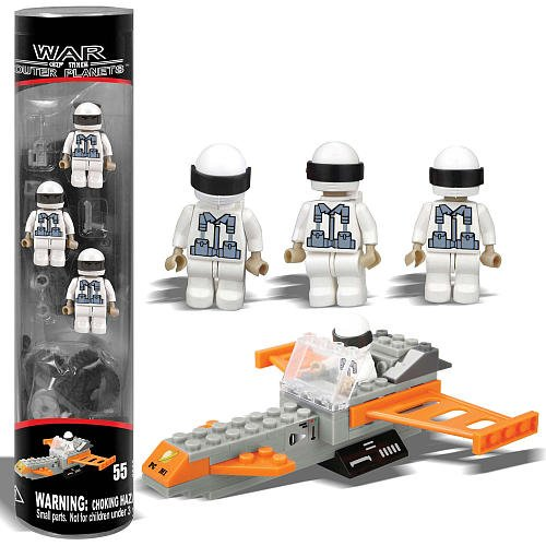 Best Lock Best Lock Construction Tube Figures - War of the Outer Planets