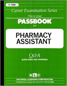 Pharmacy Assistant Passbooks Career Examination Series