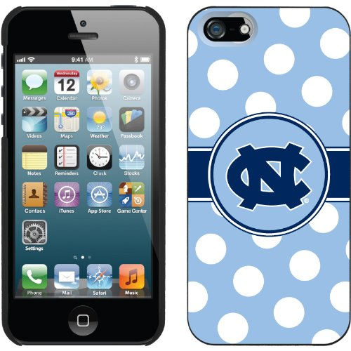 Special Sale North Carolina Polka Dots design on a Black iPhone 5s / 5 Thinshield Snap-On Case by Coveroo