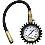 Accu-Gage H100X Professional Tire Pressure Gauge with Protective Rubber Guard (100 PSI)