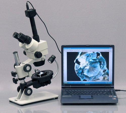 3.5X-90X Jewel Gem Stereo Zoom Microscope + 1.3M Camera