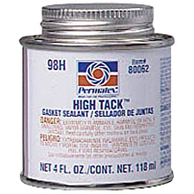 Permatex 80062 High Tack Gasket Sealant, 4 oz. Brush-Top Can