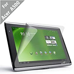 Acase(TM) Acer Iconia Tab A500 A501 AcaseView Screen Protector Film Clear (Invisible) for Acer Iconia Tab A500 A501 10.1 inch Touchscreen Tablet (3 Pack)