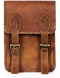"Goatter Genuine Leather Sling Bag For Boys And Girls, Three Compartments,L7""*H9""*3"" …"