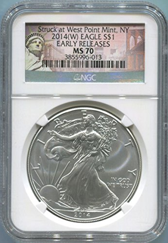 2014 See Pic Silver Eagle Silver Eagle MS70 NGC (2014 Platinum Eagle Coin compare prices)