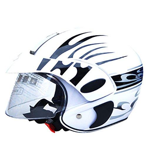 #Kinder Hälfte Helm Motorradhelm Kinder Batterieauto Helm ( farbe : Weiß )#