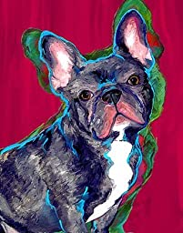 Black French Bulldog Art on Canvas