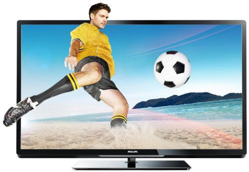 Philips 47PFL4307K 119 cm (47 Zoll) 3D LED-Backlight-Fernseher, EEK A+ (Full-HD, 200Hz PMR, DVB-T/C/S2, CI+, SmartTV, WiFi ready, USB Recording) schwarz