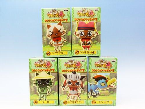 モンハン日記ぽかぽかアイルー村G コレクションフィギュア2(全5種フルコンプセット+ポスターおまけ付き)