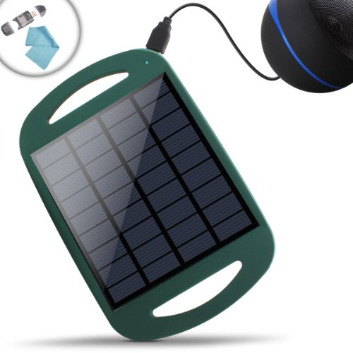 Revive Solar Restore Backyard & Outdoor Solar Panel Charger W/ Active Usb 5V Charging - Works W/ The Gogroove Bluesync Src , Or3 , Drm , Sonaverse Bx , Pal Bot , & More Portable Rechargeable Speakers - Incl. Card Reader + Cleaning Cloth