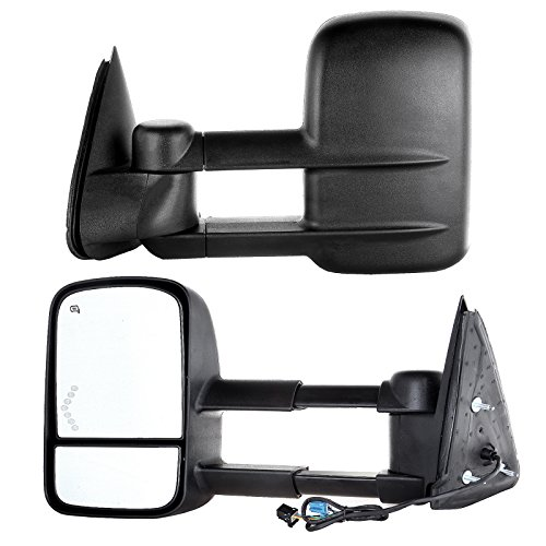 Read About Scitoo Power Heated Arrow LED Signal Side Mirror for 03-07 Chevy/GMC Silverado/Sierra Tow...
