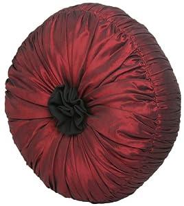 Round Red Decorative Pillows : Amazon.com - Red Satin 14 Round Yorke Pillow - Throw Pillows