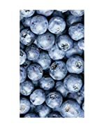 Huella deco Alfombra Bañada en Vinilo (Azul Celeste)