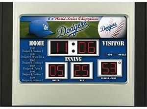 Los Angeles Dodgers MLB Scoreboard Desk & Alarm Clock by Unknown