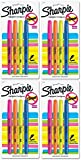 Sharpie Accent Pocket-Style Narrow Chisel Tip Highlighters, Assorted Colors [27174] 4 Count (Pack of 4) Total 16 highlighters